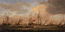 Willem van de Velde   The Mary, Yacht, Arriving with Princess Mary at Gravesend in a Fresh Breeze, 12 February 1689   Giclée Canvas Print