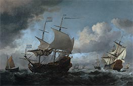 Willem van de Velde | The Dutch Fleet Assembling Before the Four Days Battle of 11-14 June 1666 | Giclée Canvas Print
