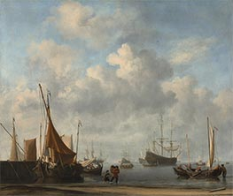 Willem van de Velde | Entrance to a Dutch Port, c.1665 | Giclée Canvas Print