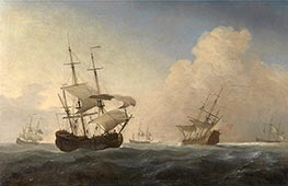 Willem van de Velde | English Warships Heeling in the Breeze Offshore | Giclée Canvas Print