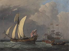 Willem van de Velde | An English Royal Yacht, c.1675 | Giclée Canvas Print