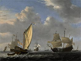 Willem van de Velde | A States Yacht from the Admiralty of Amsterdam | Giclée Canvas Print