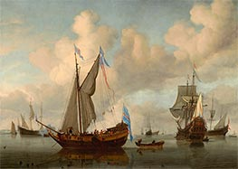 Willem van de Velde | The English Royal Yacht Mary about to Fire a Salute | Giclée Canvas Print