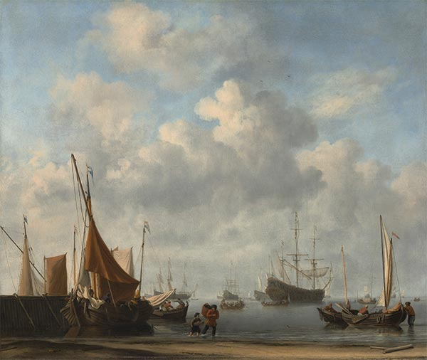 Entrance to a Dutch Port, c.1665 | Willem van de Velde | Painting Reproduction