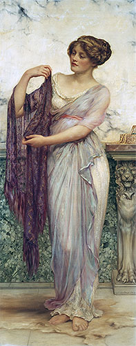 The Purple Scarf, 1913 | William Clarke Wontner | Giclée Canvas Print
