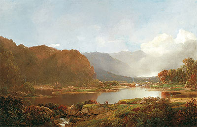 William Louis Sonntag | Fishermen in the Adirondacks, c.1860/70 | Giclée Canvas Print
