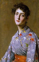 William Merritt Chase | Girl in a Japanese Costume | Giclée Canvas Print