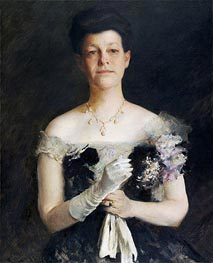 William Merritt Chase | Portrait of Lavinia Borden Cook | Giclée Canvas Print