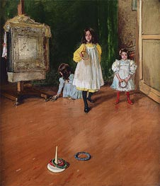 William Merritt Chase | Ring Toss, 1896 | Giclée Canvas Print
