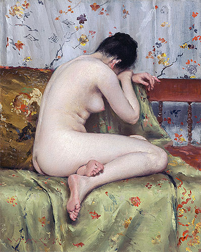 A Modern Magdalen, c.1888 | William Merritt Chase | Painting Reproduction