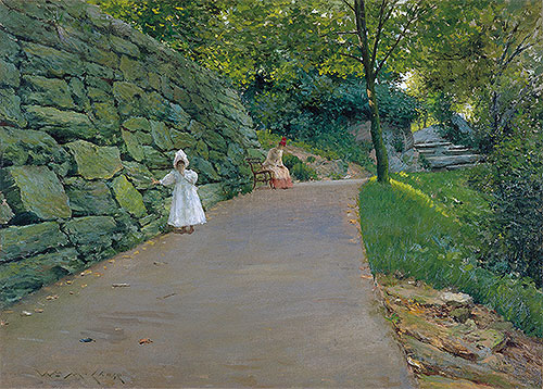 In the Park (A By-path), c.1889 | William Merritt Chase | Painting Reproduction