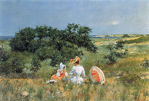 The Tale, 1892 | William Merritt Chase | Painting Reproduction