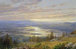 William Trost Richards | Lake Squam from Red Hill | Giclée Canvas Print