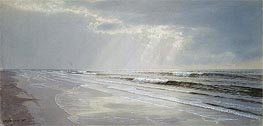 William Trost Richards | Beach with Sun Drawing Water | Giclée Paper Print