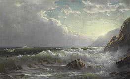 William Trost Richards | Off the Coast of Cornwall, 1904 | Giclée Canvas Print