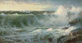 William Trost Richards | Rocky Surf Off Rhode Island | Giclée Canvas Print