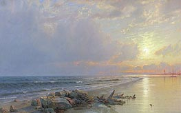 William Trost Richards | Sunset on the New Jersey Coast, 1872 | Giclée Canvas Print