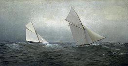 William Trost Richards   20 Miles to Windward (1885 America's Cup Race), 1885   Giclée Canvas Print