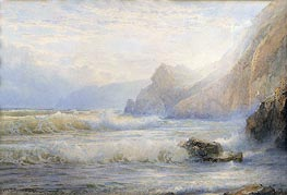 William Trost Richards | Crashing Waves | Giclée Canvas Print