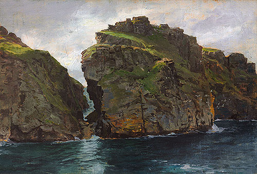 Near Tintagel, Cornwall, c.1890/99 | William Trost Richards | Painting Reproduction
