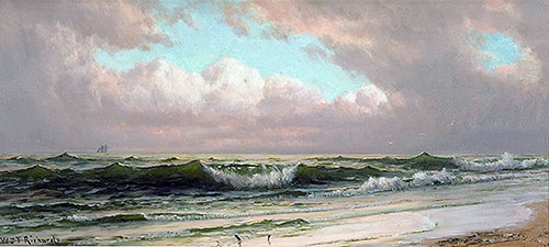 Seascape, Waves, c.1890 | William Trost Richards | Painting Reproduction