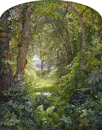 Woodland Landscape (Woodland Glade), 1860 | William Trost Richards | Giclée Canvas Print