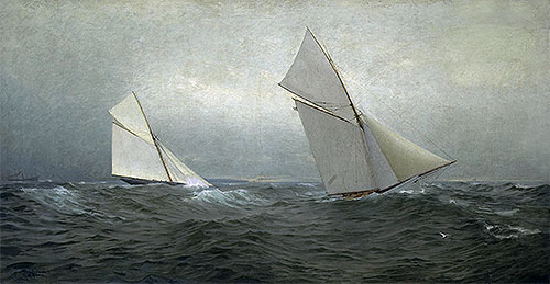 20 Miles to Windward (1885 America's Cup Race), 1885 | William Trost Richards | Giclée Canvas Print