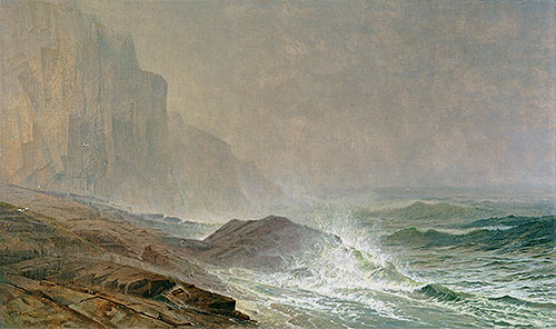 Coast of Cornwall, 1869 | William Trost Richards | Giclée Canvas Print
