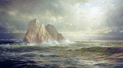 The Skelligs, Coast of Ireland, 1893 | William Trost Richards | Giclée Canvas Print