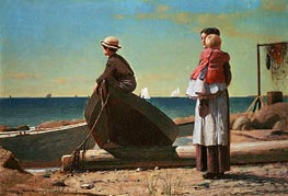 Winslow Homer | Dad's Coming!, 1873 | Giclée Canvas Print