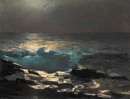 Winslow Homer | Moonlight, Wood Island Light, 1894 | Giclée Canvas Print