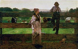 Winslow Homer | Milking Time | Giclée Canvas Print