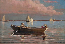 Winslow Homer | Gloucester Harbor, 1873 | Giclée Canvas Print