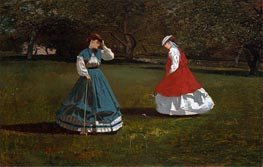 Winslow Homer | A Game of Croquet, 1866 | Giclée Canvas Print