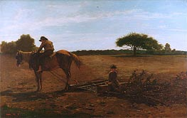 Winslow Homer | The Brush Harrow, 1865 | Giclée Canvas Print