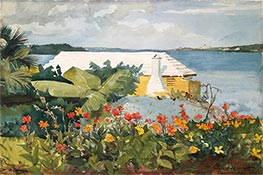 Winslow Homer | Flower Garden and Bungalow, Bermuda | Giclée Canvas Print