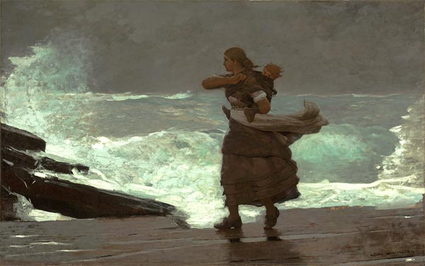 The Gale, c.1883/93 | Winslow Homer | Giclée Canvas Print