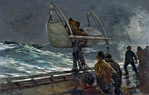 The Signal of Distress, 1890 | Winslow Homer | Giclée Canvas Print