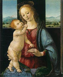 Leonardo da Vinci | The Dreyfus Madonna (Madonna with a Pomegranate), c.1475/80 | Giclée Canvas Print