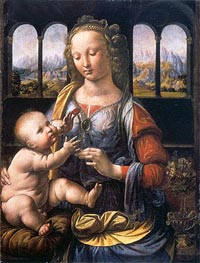 Leonardo da Vinci | Madonna of the Carnation, c.1473 | Giclée Canvas Print
