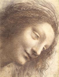 Leonardo da Vinci | Head of the Virgin, c.1508/12 | Giclée Paper Print