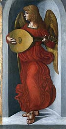 Leonardo da Vinci | An Angel in Red with a Lute, c.1490/99 | Giclée Canvas Print