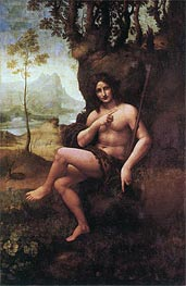 Leonardo da Vinci | St John the Baptist (with the Attributes of Bacchus), c.1513/19 | Giclée Canvas Print