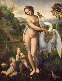 Leonardo da Vinci | Leda and the Swan, a.1510/15 | Giclée Canvas Print