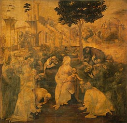 Leonardo da Vinci | Adoration of the Magi, 1481 | Giclée Canvas Print