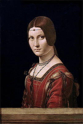 La Belle Ferronniere (Portrait of a Lady from the Court of Milan), c.1490/95 | Leonardo da Vinci | Giclée Canvas Print